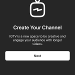 IGTV Kanal Oluşturma 1