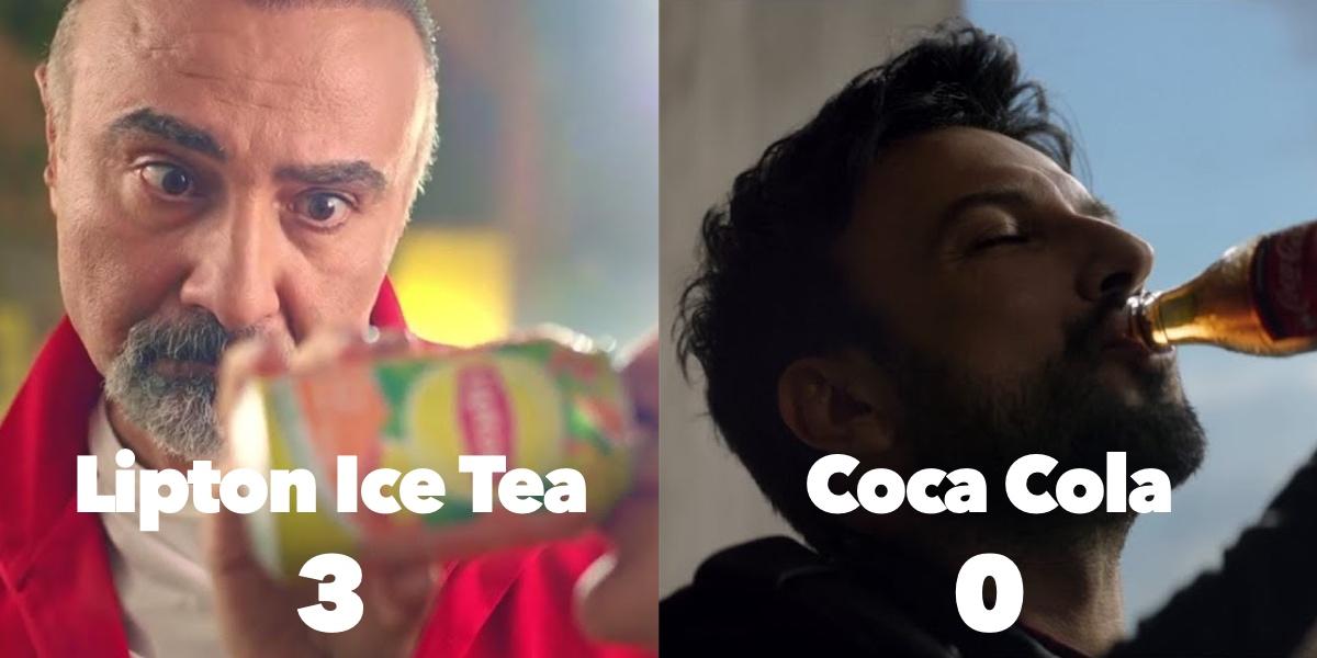 Lipton Ice Tea'nin Coca Cola'ya reklam golü atması