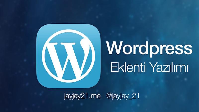Wordpress eklentisi nasıl ve neden yazılır