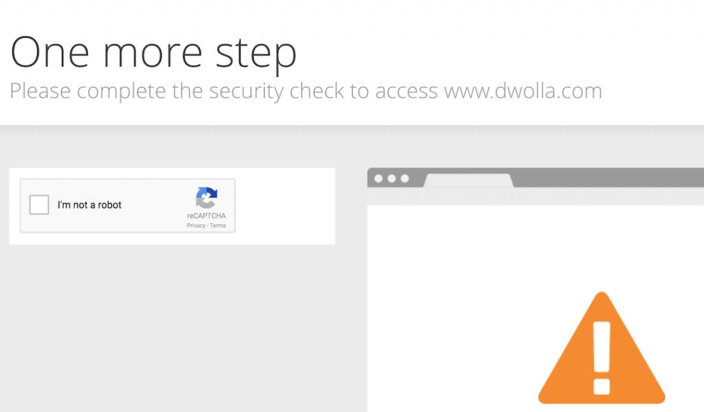 Cloudflare şüphelendiği bağlantılara bir Captcha testi uyguluyor
