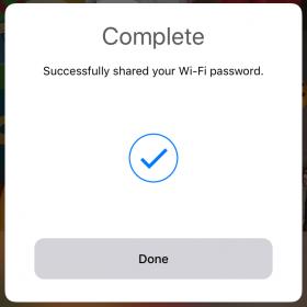 Şifre paylaşımı onay ekranı
